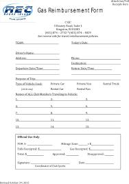 gas reimbursement form reimbursement form no fault and workers compensation medical