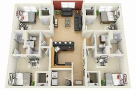 Amazing 1000 Images About Floor Plan On Pinterest Bedroom Apartment Modern  4 Bedroom House Floor Plans
