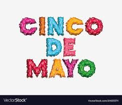 Cinco de mayo card with font colors ...