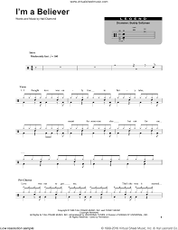 Monkees Im A Believer Sheet Music For Drums Pdf
