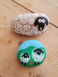 Rock decorating ideas Painting Ideas Rock Decorating Ideas Sheep Life In The Mums Lane Life In The Mums Lane Rock Decorating Ideas