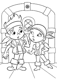 jake and the neverland pirates christmas coloring pages