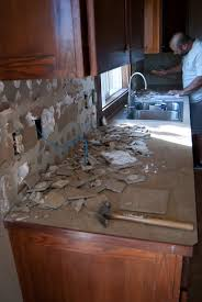 Prepping for new counters - demo of backsplash