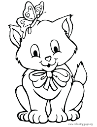Free Kitten Coloring Pages Printable Kitten Coloring Pages Kitten