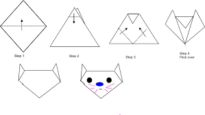 easy origami  animals origami with instrutions and diagrams for kids easy origami cat jpg   bytes
