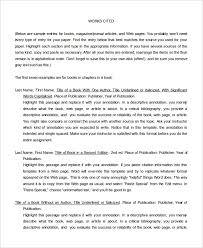 Annotated Bibliography Template 10 Annotated Bibliography Free Sample Example Format