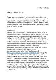 music video essay first draft by thomas stansfield issuu music video essay by benhur