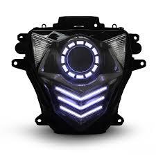 Hid Lights For Gsxr 600 Kt Led Headlight For Suzuki Gsxr600 Gsx R600 2011 2019 White