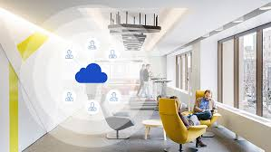 virtual office tools. Image Of Informal Seating In Office With Graphic Icons Overlaid To Denote  Virtual Colocation Teams Tools L