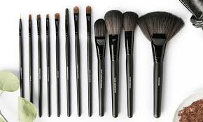groupon all dolled up professional makeup brush set 13 piece or 15 piece
