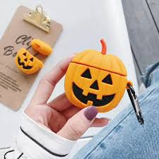 YT-Cute <b>Cartoon</b> Pumpkin AirPods 1 2 <b>Case Halloween</b> Silicone ...
