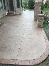 Best Mix Design For Stamped Concrete Stamped Patio W 2 Sets Of Landings Steps W Matching Brick