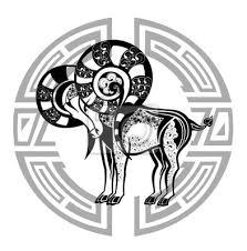 Plakát Zodiac Kola Se Znakem Ariestattoo Designu