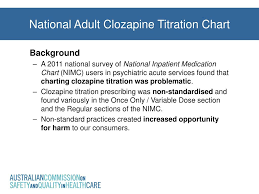 Clozapine Dosage And Titration Chart Ppt National Adult Clozapine Titration Chart Powerpoint