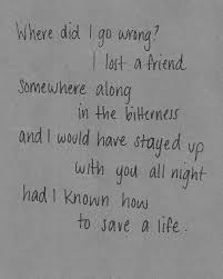 The Fray How To Save A Life Lyric Quotes Meaningful Lyrics Awesome Fascinating Song Lyric Quotes