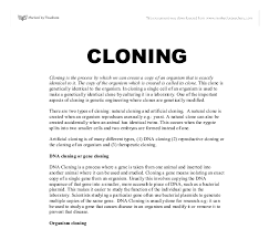 the disadvantages of human cloning essay the advantages and disadvantages of cloning humans as well as