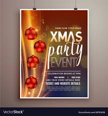 Free Holiday Design Templates Christmas Holidays Party Flyer Design Template