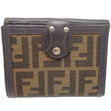authentic fendi compact bifold wallet calf zucca pattern brown 8m0114 043801 free
