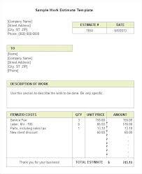 Work Estimate Templates Painting Work Estimate Template Format Download Sample