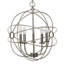 5 light chrome orb chandelier