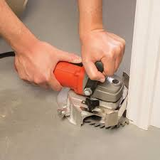 how to fit laminate flooring under a door frame use a jamb saw