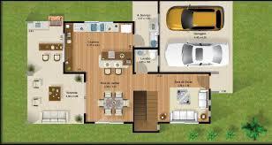 plano de casa de dos plantas con carport
