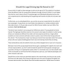 mer enn bra ideer om driving teen pa viten og  driving age should be raised to 18 persuasive essay best opinion
