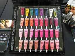 varying color range of obsessive pulsive cosmetics lip tars