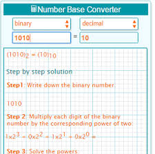 Decimal Binary Conversion Chart Table Binary To Decimal Converter With Solution