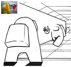 Once dead, the among us characters become ghosts. Among Us Coloring Pages Entrance Of The Spaceship Xcolorings Com