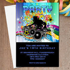 personalised disco dj party invitations n the personalised 10 personalised disco dj party invitations n5 the personalised party co