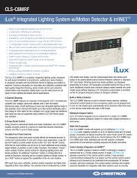 Crestron Lighting Control Panel Lighting System Manualzz Com