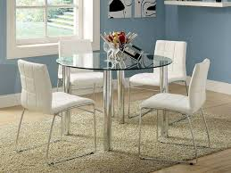 round glass table and chairs luxury 5pc kona round glass top dining table set bold chrome