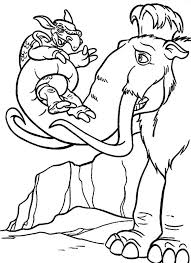Small Picture 18 best Ice Age Coloring Pages images on Pinterest Ice age