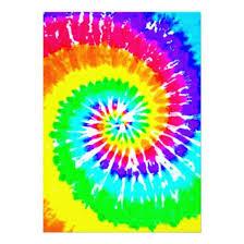 Tie Dye Rainbow Swirl Neon Rainbow Colors Pattern 5 X 7 Paper