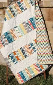 Best 25+ Modern baby quilts ideas on Pinterest | Baby quilt ... & Modern Baby Quilt, Blanket, Nursery Bedding, Birch Organic Fabrics, Crib  Quilt Decor Adamdwight.com