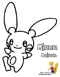 Plusle and minun coloring pages