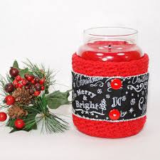 Decorating Candle Jars Yankee Candle Jar Holder Christmas from TheKnottyNeedle on Etsy 53