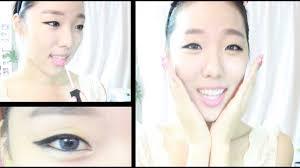 kpop makeup tutorial korean ulzzang 얼짱메이크업 good for monolids sulli fx inspired