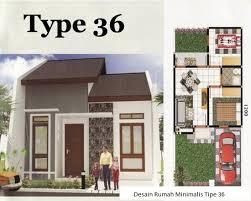 denah rumah tipe 36 sederhana 2 kamar tidur desain rumah minimalis
