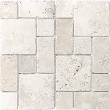 anatolia tile chiaro 12 in x 12 in mixed pattern mosaic travertine wall tile common 12 in x 12 in actual 12 in x 12 in