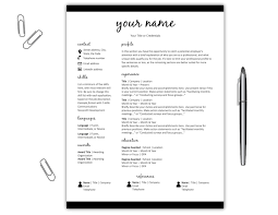 Resume Template Cv Template Simple Resume Template Cv Template Microsoft Word Instant Download Resume Template Resume Cv Cover Letter Resume