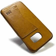 samsung galaxy s7 edge leather case camel by nicola meyer