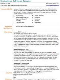 Call Centre Cv Call Centre Operator Cv Example Learnist Org