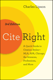 Book Review Cite Right 3rd Ed By Charles Lipson Boldface