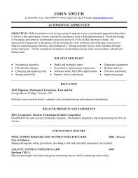 Electrician Apprentice Resume Samples Automotive Apprentice Resume Sample Template