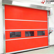 china automatic pvc rapid high sd shutter door stainless steel frame china high sd door clean door
