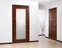 interior wood door frosted glass panels