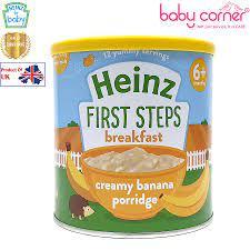 Bột Ăn Dặm (Cháo) HEINZ vị KEM Chuối, 240g, Từ 6 Tháng Tuổi – Babycorner  Shop