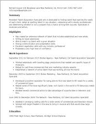 Resume Templates: Talent Acquisition Specialist